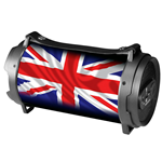 XTREME SPEAKER BLUETOOTH BOOM BOX UK FLAG FLASH LED